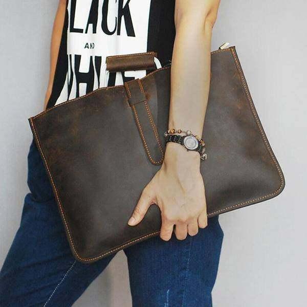 On Sale, Handmade Men Shoulder Bag,Horse Leather Men Tote, Messenger Bag image 6