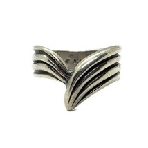 Kabana 925 Sterling Silver Tapered Ridge Ring Size 6.25 - $19.79