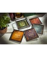 Glass & Metal WINE MESSAGES Coasters Set 4 with Metal Holder J Devlin Gl... - $29.99