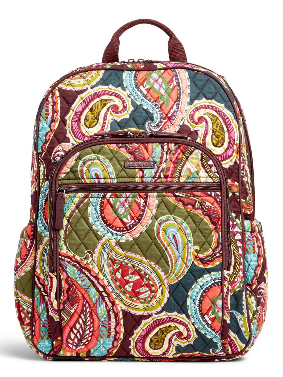 Vera Bradley Signature Cotton Campus Tech Backpack, Heirloom Paisley