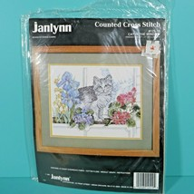 "Janlynn Cat In The Window Counted Cross Stitch 12"" x 9"" Donna Giampa Kit #125-19 - $9.95"