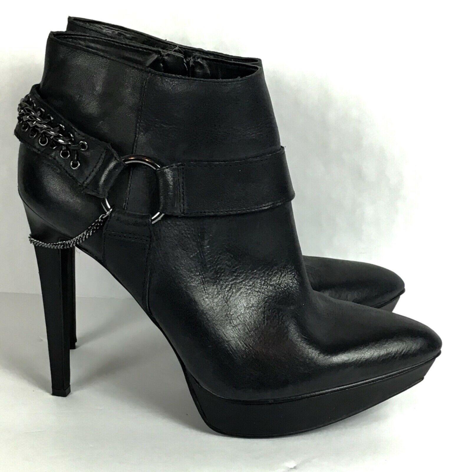 Jessica Simpson Vinata 10M Ankle Bootie Platform Stiletto Heels Chains Side Zip  image 2
