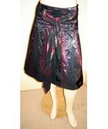 EXPRESS Shimmering Iridescent Purple/Blue Pleated Taffeta Skirt w/ Belt ... - $19.50