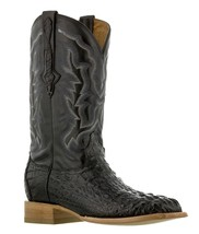 Mens Black Real Crocodile Square Toe Cowboy Leather Boots Western Rodeo - £156.20 GBP