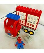 LEGO Duplo Spiderman Figure and Truck doors Lot CLEAN  - $23.71