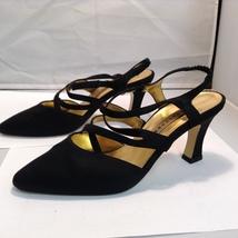 Evening Katerina 5M High Black Apostrophé 6 Shoes Heel Sz xTI7nwFq4