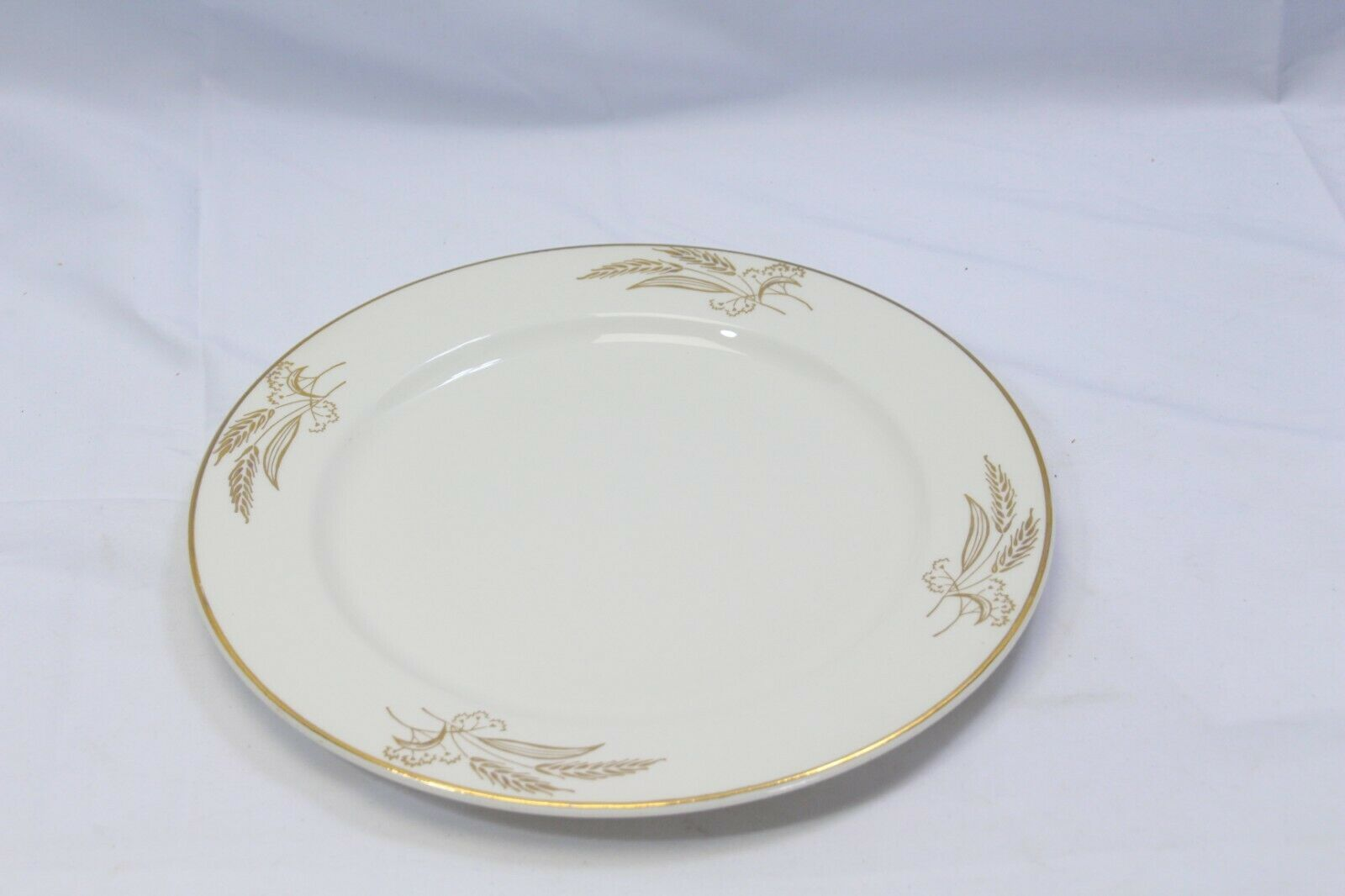 "Lifetime China Prairie Gold Dinner Plates 10.25"" Lot of 6 image 5"