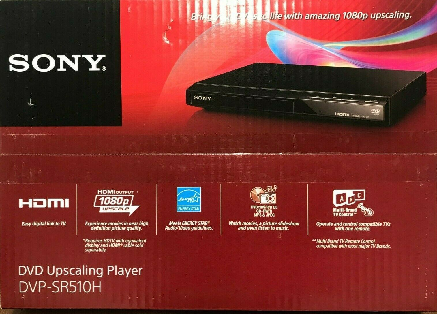 Primary image for Sony - DVPSR510H - DVD Player with HD Upconversion - Black