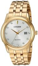 Citizen Men's Eco-Drive Stainless Steel GoldTone Diamond Accent Watch BM7342-50A image 1
