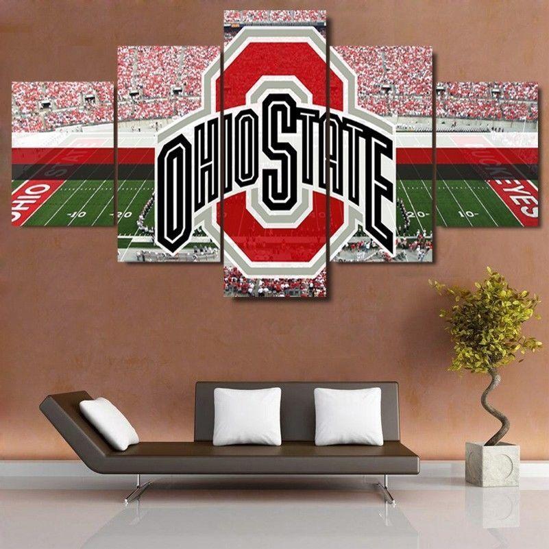 5 Piece Ohio State Stadium Logo HD Printed Canvas Painting ...