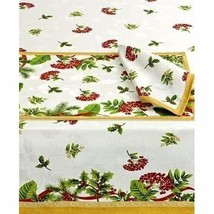 "Homewear Holiday Table Linens Holiday Berry Tablecloth 60""X120"" Oblong - $40.97"