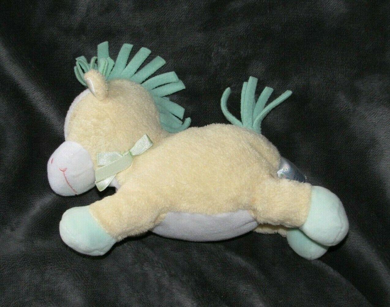 "9"" BABY KIDS PREFERRED YELLOW HORSE PONY RATTLE STUFFED ANIMAL PLUSH TOY LOVEY"