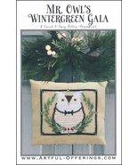 Mr. Owl's Wintergreen Gala cross stitch chart Artful Offerings  - $9.00