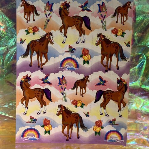 Lisa Frank Complete Sticker Sheet S281 OG Original Rainbow Chaser Lollipop