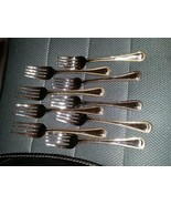 9 Salad Forks WALLACE GOLD BEAD Stainless 18/10 NOS - $49.99