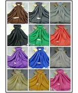TkSories12 2 PCS Plain Solid Print Pashmina Scarf Wrap Stole All Season ... - $35.64