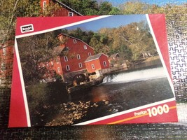 1000 Piece Old Red Mill Puzzle Jigsaw Puzzle Rosart Puzzle - $4.99