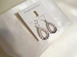 """Charter Club 1-3/4"""" Silver-Tone Stone Teardrop Ombre Drop Earrings R737 $34 - $14.39"""