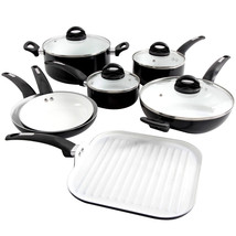 Oster Herstal 11 Piece Aluminum Cookware Set in Black - $135.12