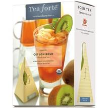 Tea Forte Ceylon Gold Iced Tea - Black Tea - 8 x 5 Infusers - $114.07