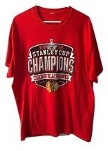Chicago Blackhawks 2015 Stanley Cup Champion size XL Red T Shirt Mens Co... - $14.10