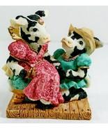 Cowtown Romecow & Mooliet Cow Figurine Romeo Juliet Shakespeare 1994 Gan... - $17.75