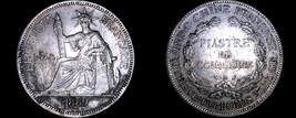 1889-A French Indo-China 1 Piastre World Silver Coin - Vietnam - $199.99