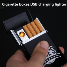 Electric lighter USB Windproof flameless charging No gas - $7.75