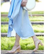 Stuart Weitzman Nearlynude Cork City Block Heel Sandal Size 9.5 Ankle Strap - $123.75