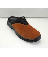 Teva Sheeba Rust Brown Suede Leather Front Zip Mules Clogs - Women's 7.5 - $23.70
