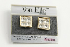 ESTATE VINTAGE Jewelry NOS ON CARD VON ELLE SWAROVSKI CRYSTAL DESIGNER E... - $15.00