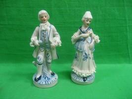 Vintage Victorian Male and Female Porcelain Figurines ~ Unique detail - $13.06