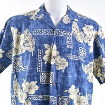Royal Creations Hibiscus Floral Cross Hatch Large Hawaiian Aloha Shirt - $29.69
