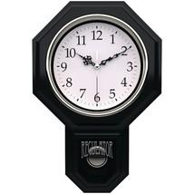 Timekeeper 180BWAC Essex 18.75 Modern Pendulum Wall Clock (Black) - $66.40