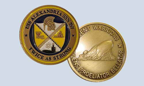 NAVY SUBMARINE USS ALEXANDRIA SSN-757 SILENT WARRIORS CHALLENGE COIN