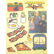 Vtg 70s Simplicity 7147 Embroidery Transfer Food Bacon Pizza Hot Dog Fro... - $6.95