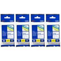 Brother Laminated 24mm Tape Cassette (Pack of 4), Blue on White, TZe-253 - $94.99