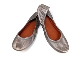 LUCKY BRAND Women's 9M 39 Metallic Pewter Gray Emmie Ballet Flat Comfort... - $29.52