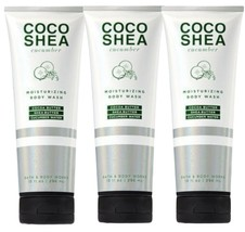 3 Bottles Bath & Body Works COCO SHEA CUCUMBER Moisturizing Body Wash 10... - $37.36