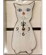 Pink Cloud White Cat Kitty Kitten Pendulum Wall Clock - $39.99