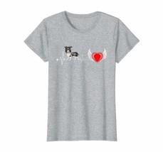 Dog Fashion - Siberian Husky Dog Heartbeat Funny Dog Gift Tee Shirt Wowen - $19.95+