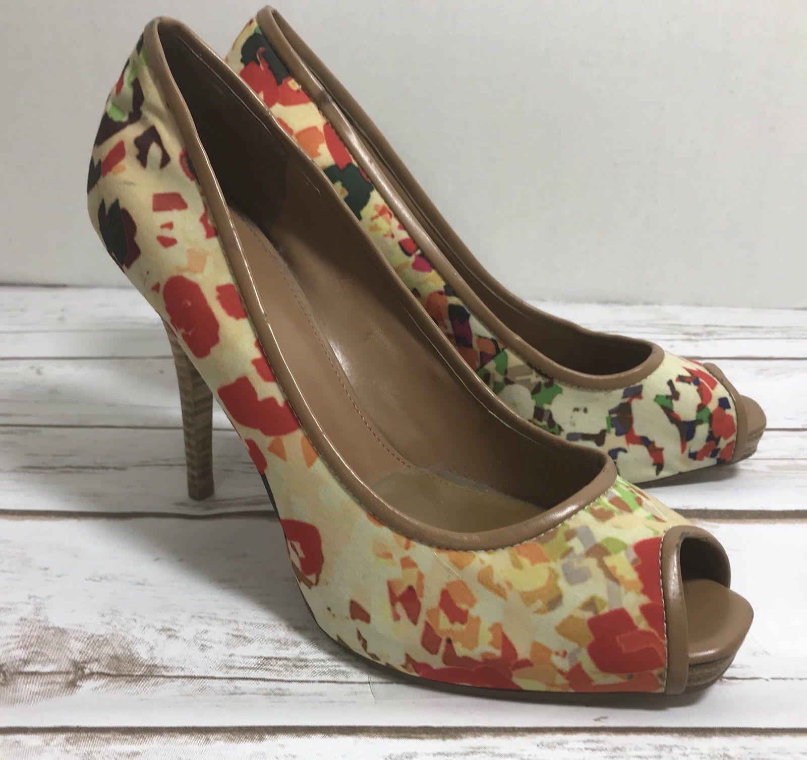 fbc4e27127a S l1600. S l1600. Previous. Nine West Women s Shoes Sz 8 Multi-color PEEP  TOE PUMPS Heel Measures 4
