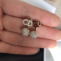Authentic Christian Dior 2018 LIMITED CD Crystal Logo Initial Star Pearl Earring image 7