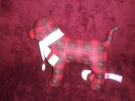 Victorias Geheimnis Pink Hund Plaid Weihnachten Plüsch Plüsch Urlaub - $15.63