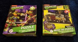 Teenage Mutant Ninja Turtles 2 Puzzle Bundle - 48 Pieces & 18 Piece 3D P... - $4.39