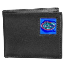 Florida Gators Leather Bi-fold Wallet Black w/ 2 flip ID Windows Men's B... - $20.88
