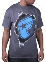 Famous Stars & Straps Homme Charbon/Bleu Boh The Other Side T-Shirt 105574 Nwt