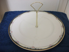 Royal Doulton China Tidbit Platter Pastry Cookie Horderves Plate Dish W/ Handle - $17.99