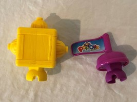 Fisher Price Pop Onz Replacement Parts Pieces Purple Flag and Yellow Cube  - $4.99