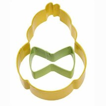 Chick with Mini Bow Tie 2 Pc Metal Cookie Cutter Set Wilton - $4.45